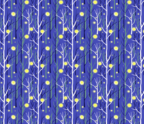 Fireflies in the Forest fabric by vinpauld on Spoonflower - custom fabric