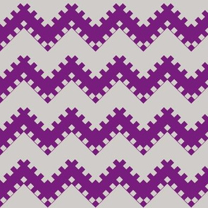 8bit Chevron in Dark Purple