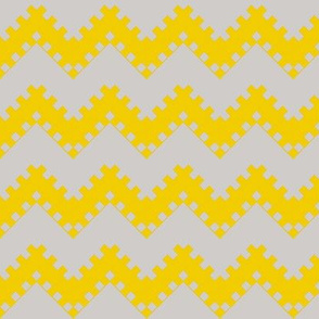 8bit Chevron in Bright Yellow