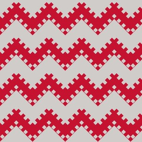 8bit Chevron in Red