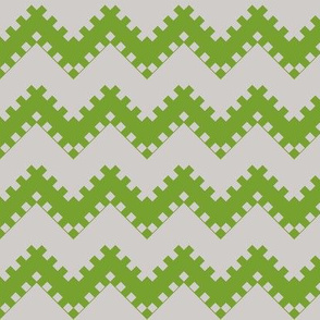 8bit Chevron in Dark Green