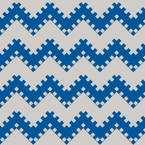 8bit Chevron in Blue