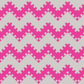 8bit Chevron in Hot Pink