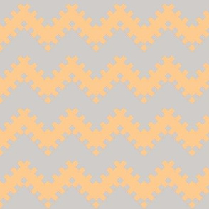 8bit Chevron in Peach