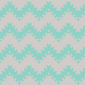 8bit Chevron in Teal