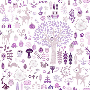 Purple Woodland Wonderland