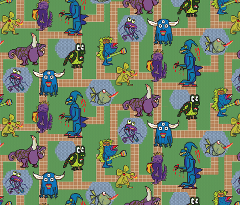 prancingpixel_monstermash fabric by prancingpixel on Spoonflower - custom fabric