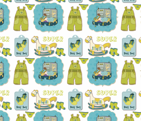 Baby Boy (White Background) fabric by campbellcreative on Spoonflower - custom fabric