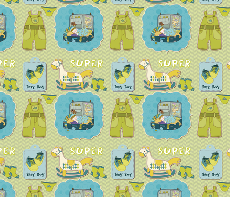 Baby Boy (Herringbone Background) fabric by popstationery&gifts on Spoonflower - custom fabric