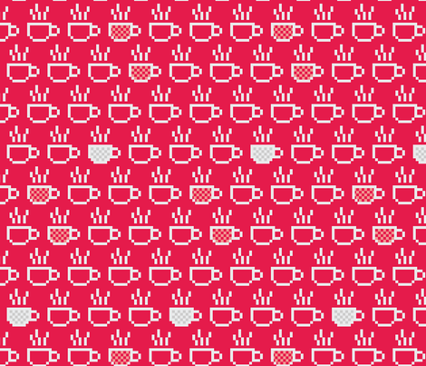 8-bit coffee fabric by ebygomm on Spoonflower - custom fabric