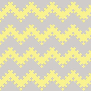 8bit Chevron in Yellow