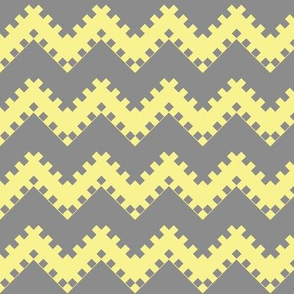 8bit Chevron in Yellow 2