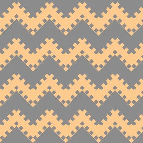 8bit Chevron in Peach 2