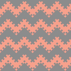 8bit Chevron in Coral 2