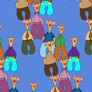 Bears on blue