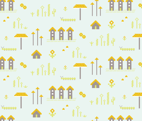 pixelville fabric by nicole_kraieski on Spoonflower - custom fabric