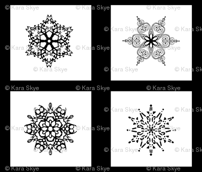 Star Mandala Snow Pillow Set