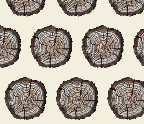 Logs natural fabric by gollybard on Spoonflower - custom fabric