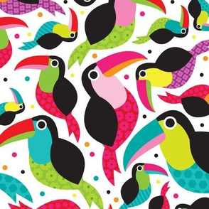 Tropical summer kids brazil tucan illustration birds design