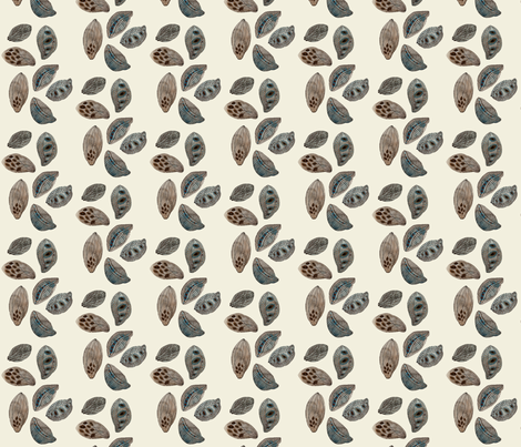 Seed Pods Natural fabric by gollybard on Spoonflower - custom fabric