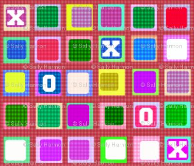 8-Bit Gingham Tic-Tac-Toe
