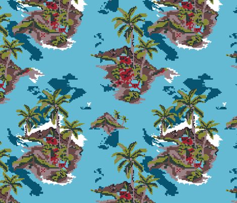 mm_VirtualVacation_8bit fabric by mandi_miles on Spoonflower - custom fabric