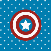 American Superhero Shield Large