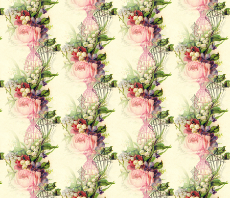 Victorian Nosegay and Dress Forms fabric by 13moons_design on Spoonflower - custom fabric
