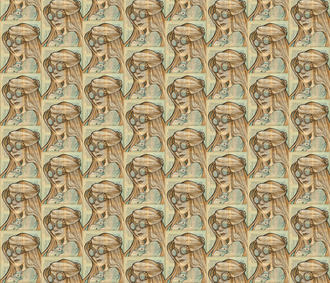 Iron Lady 1 fabric by karenhallionart on Spoonflower - custom fabric