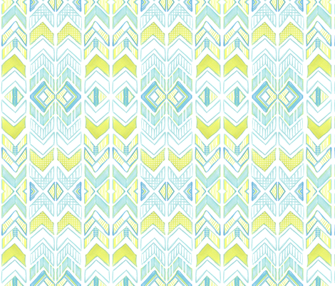 Chalk Chevron  fabric by emilysanford on Spoonflower - custom fabric