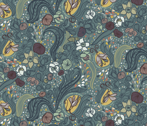 Firefly Sky fabric by gsonge on Spoonflower - custom fabric