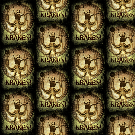 Kraken fabric by marchhare on Spoonflower - custom fabric