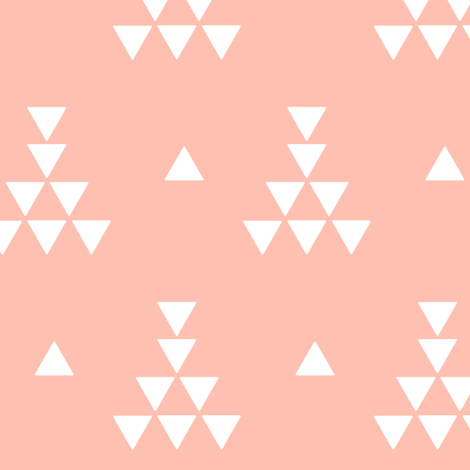 Light Coral teepee fabric by >>mintpeony<< on Spoonflower - custom fabric