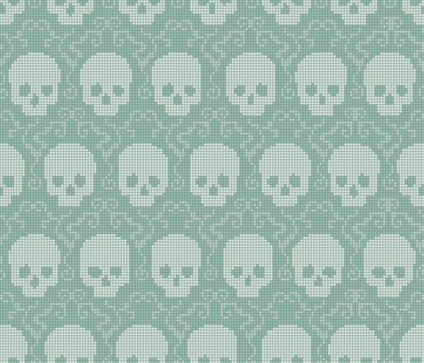 Ghost Pixels fabric by juliesfabrics on Spoonflower - custom fabric