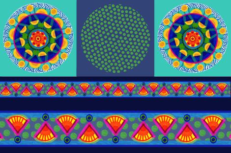 Polkadot/Mandala pillow fabric fabric by mcuetara on Spoonflower - custom fabric