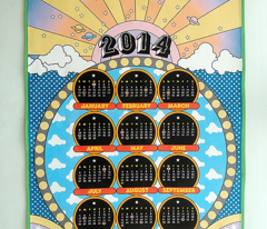 """2014 to the Max"" Tea Towel Calendar"