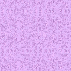 Whimsical Pembroke outlines - lavender