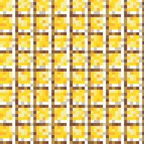 8-bit Clad in Golden Plaid
