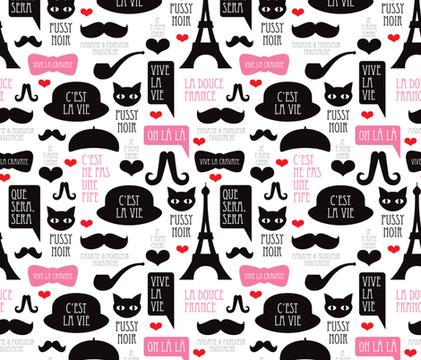Oh la la french paris theme hipster illustration