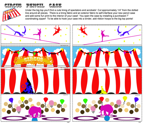 Pencils under the Big Top fabric by tracydb70 on Spoonflower - custom fabric