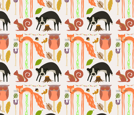 Woodland fabric by popstationery&gifts on Spoonflower - custom fabric