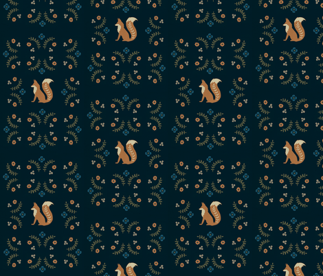 Foxes  fabric by calamaristudio on Spoonflower - custom fabric