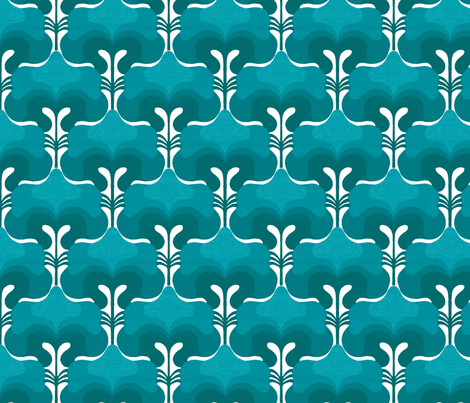 vintage splash blue fabric by myracle on Spoonflower - custom fabric