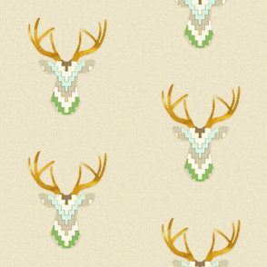 Telluride Deer in Green and Aqua