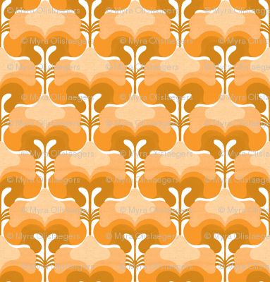 vintage splash orange