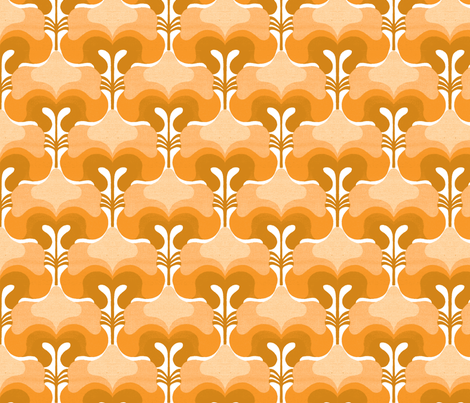 vintage splash orange fabric by myracle on Spoonflower - custom fabric