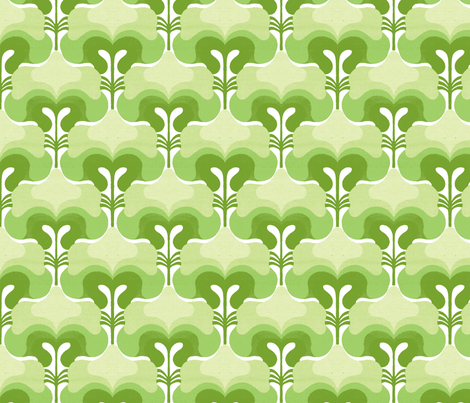 vintage splash green fabric by myracle on Spoonflower - custom fabric