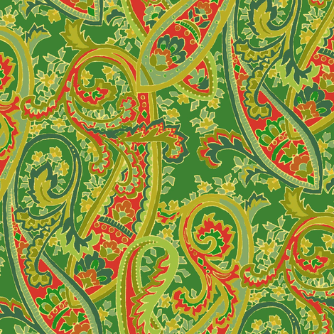 Forest_Christmas_Paisley fabric by kelly_a on Spoonflower - custom fabric