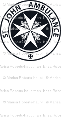 "St John Ambulance logo - 1"" on white"