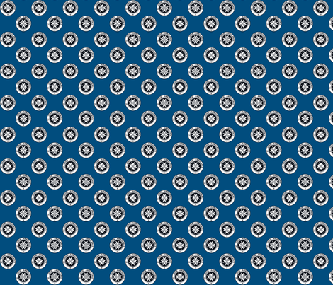 "St John Ambulance logo - 1"" on blue fabric by risarocksit on Spoonflower - custom fabric"